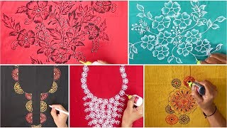 Download Liquid Embroidery Designs ( Part-3) for Kurtis / Saree / Blouses | Mirror & beads work Designs Video