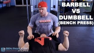 Download Ben Pakulski Barbell VS Dumbbell (Bench Press) Video
