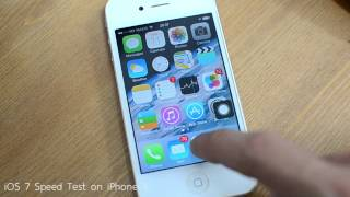 Download iOS 7 Speed Test on iPhone 4 Video