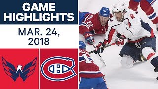 Download NHL Game Highlights | Capitals vs. Canadiens - Mar. 24, 2018 Video