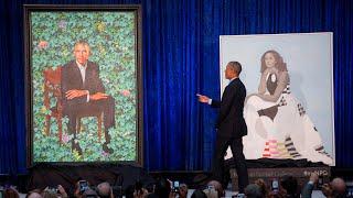 Download Barack Obama thanks portrait artist for capturing Michelle's 'hotness' Video
