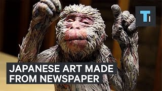 Download These realistic animals are made entirely from rolled paper and glue Video