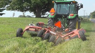 Download Beats The Pants Off A Weed Eater!! 10' Batwing Mowing Ditch Banks & Barn Lot Video