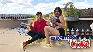 Download EXTREME COKE AND MENTOS IN POOL EXPERIMENT! Video