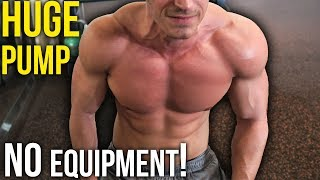 Download KILLER Home Chest Workout for MASS (No Equipment) Video