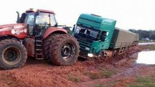 Download Vehiculos en Barro: Tractor, grúa, camión, coche. Video para niños Tractors Stuck in Mud 2017 Video
