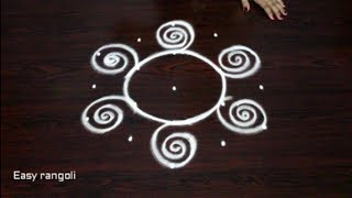 Download beautiful rangoli kolam designs with 5x3 dots || simple rangoli designs || creative muggulu designs Video