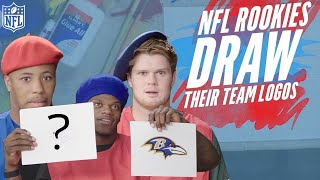 Download NFL Rookies Attempt to Draw their Team Logos | NFL Rush Video