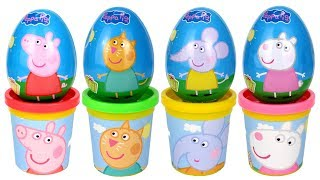 Download Peppa Pig & Friends Surprise Eggs Play Doh Molds Candy Cat Emily Elephant Suzy Sheep Danny Dog Toys Video