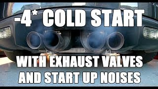 Download -4* cold start C6 Z06 - LS7 Start up and exhaust valves open and closed Video
