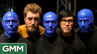 Download Rhett & Link Join Blue Man Group Video