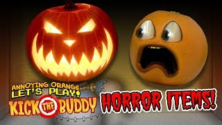 Download Kick The Buddy: HORROR ITEMS! [Annoying Orange Plays] Video