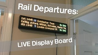 Download Taking A Look At The RailDepartures.co.uk LIVE Display Board Video