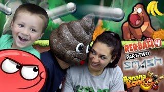Download a POOPY HEAD Plays Games! Redball 4, Banana Kong & Smash Hit (FGTEEV FAMILY GAMEPLAY) Video