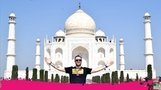 Download Visiting the TAJ MAHAL a WORLD WONDER + Day Trip to Fatehpur Sikri | Agra, India Video