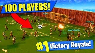 Download 100 PLAYER SOCCER MATCH In Fortnite Battle Royale! Video