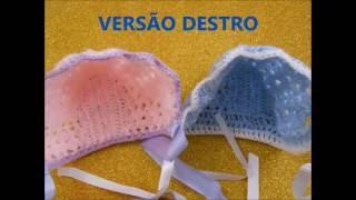 Download #PAP (DIY - DESTRO) KIT SAÍDA DE MATERNIDADE #04 TOUCA VINTAGE CROCHE Video