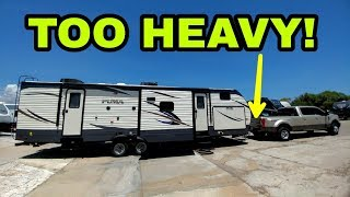 Download CRAZY HEAVY Travel Trailer! See how much with Weigh-Safe Hitch! Video