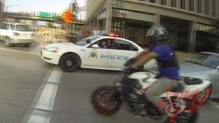 Download Bike Vs Police CHASE Motorcycle Stunts RUNNING From The Cops Riding WHEELIES Cop CHASES Video