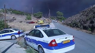 Download Greece, Britain and Israel help fight massive forest fire in Cyprus Video