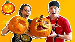 Download EXTREME PUMPKIN CARVING CONTEST! Video