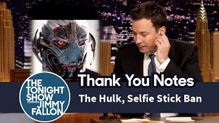 Download Thank You Notes: The Hulk, Selfie Stick Ban Video