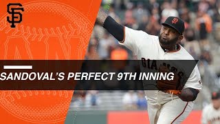 Download Panda tosses perfect 9th inning vs. Dodgers Video