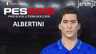 Download ALBERTINI FACE + STATS EDIT PES 2018 (Italie classics) Video