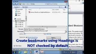 Download 4 Ways to Create PDF with Bookmarks (Acrobat Tutorial) Video