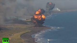 Download Massive military drill in Russian far east: Kamchatka coast rocked by defense barrage Video