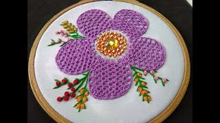 Download Hand Embroidery - Lace Stitch Embroidery Video