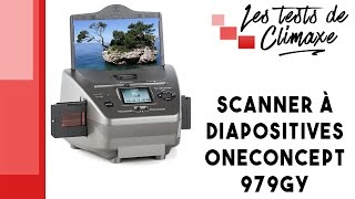 Download Test d'un scanner à diapositives (diapos) OneConcept 979GY Video
