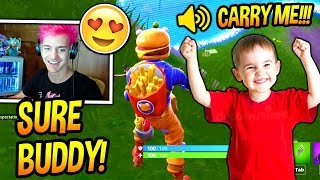 Download NINJA PLAYS FORTNITE WITH THE CUTEST KID EVER! *ADORABLE* Fortnite FUNNY & ADORABLE Moments Video