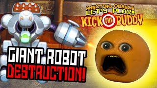 Download Kick the Buddy: Giant Killer Robot! [Annoying Orange Plays] Video