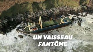 Download Avec la tempête Dennis, ce bateau qui dérivait depuis plus d'un an s'est échoué Video
