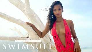 Download Lais Ribeiro Wears Nothing But Bikini Bottoms For Tree Photoshoot | Sports Illustrated Swimsuit Video