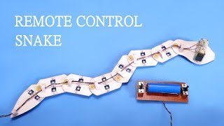 Download How to make Remote controlled Snake at home Video