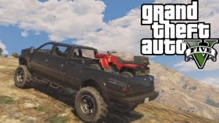 Download ★ GTA 5 - Hauling ATV Up Mountain | Off-Road 4x4 Video