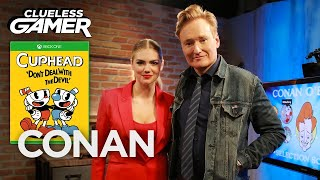 Download Clueless Gamer: ″Cuphead″ With Kate Upton - CONAN on TBS Video