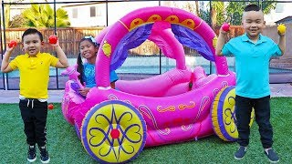 Download Wendy Pretend Play with Inflatable Princess Carriage Toy Video