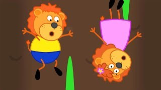 Download Lion Family How Deep the Rabbit Burrow Cartoon for Kids Video