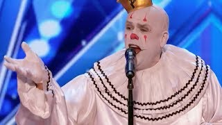Download Sad Shy Clown With His Mind Blowing Version of Sia's ″Chandelier″ | Week 1 | America's Got Talent 20 Video