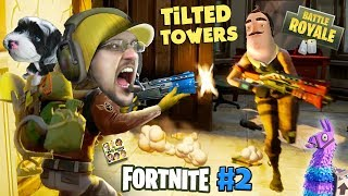 Download FORTNITE #2 w/ HELLO NEIGHBOR! Looting, Shooting, My Dog is Tooting! (The Tilted Towers Sniper) Video