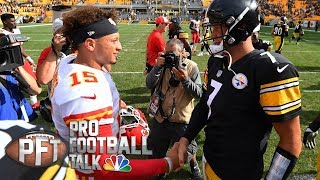 Download Patrick Mahomes benefiting from sitting for year I Pro Football Talk I NBC Sports Video