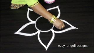 Download Cute & small rangoli kolam designs with out dots || easy & simple beginners muggulu Video