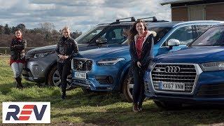 Download The REV test: Luxury SUVs. Audi Q7 vs Land Rover Discovery vs Volvo XC90 Video