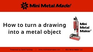 Download Mini Metal Made - 1 - Drawing to metal object. Video