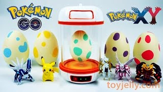 Download Pokemon GO Surprise Eggs Toys Slime Clay With Pokemon Incubator Playset Video