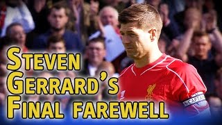 Download Steven Gerrard walks onto Anfield pitch for final time to an amazing response from fans Video