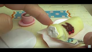 Download Mini Cat Roll cake making in Licca-chan kitchen♥Konapun Video